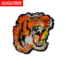 GUGUTREE embroidery big dogs patches animal badges applique for clothing ZM-115