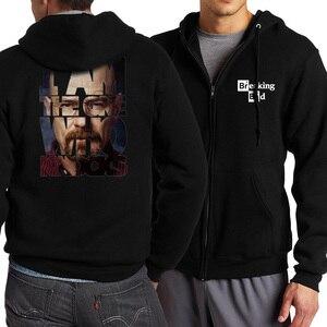 Image 2 - Hip Hop Men Hoody Heisenberg Character 2019 Spring Autumn Jackets Men Zipped Hoodies Brand Clothing Sweatshirts Tracksuits