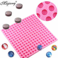 3D 225 Hole Round Shape Chocolate Silicone Mold Sugar Candy Clay Molds Fondant Cake Decorating Tools DIY Party Cupcake Baking