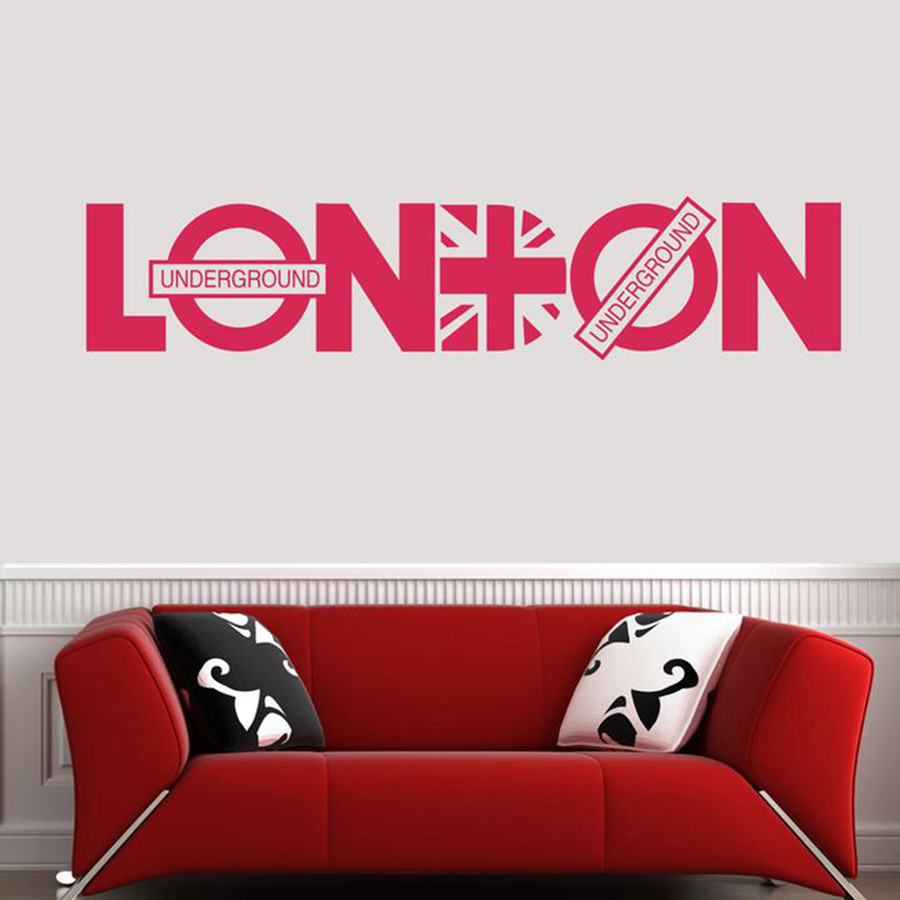 Wholesale london britpop wall decoration stickers family for Sticker deco