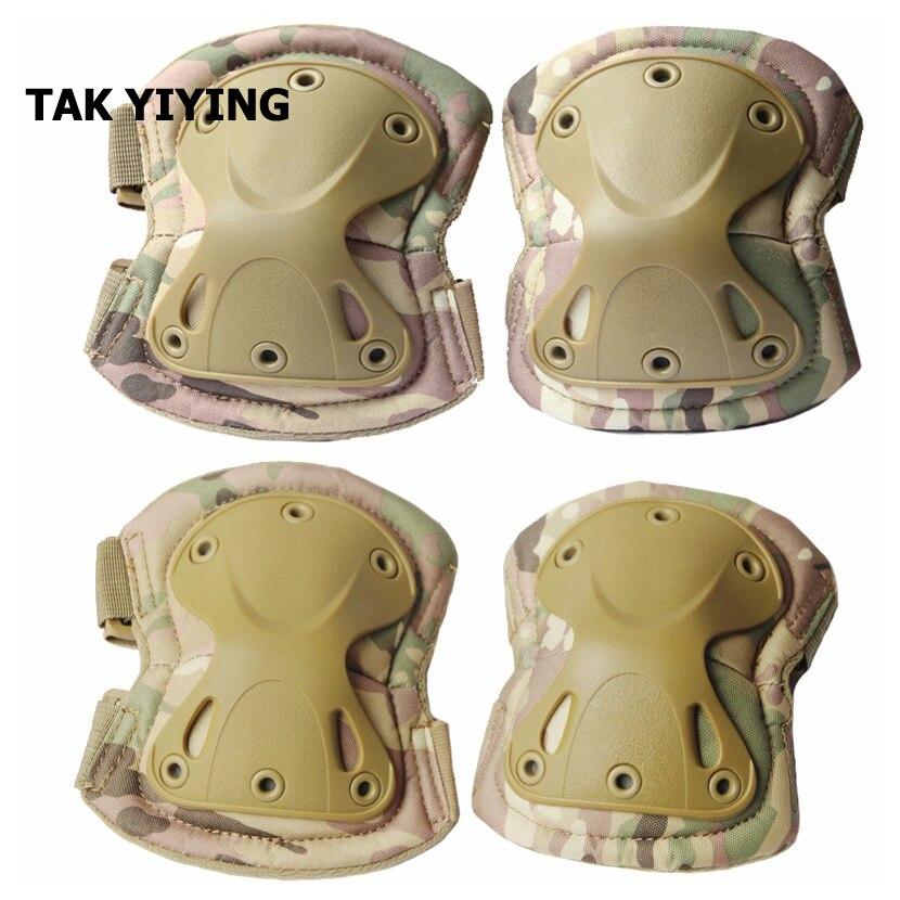 Prix pour TAK YIYING Airsoft Tactique Genou Réglable et Coude De Protection Tapis Set Protecteur Gear Chasse Tir Plaquettes
