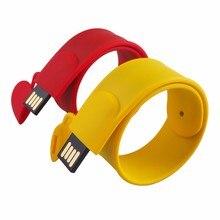 Real Capacity Colorful Bracelet Wrist Band USB Flash Drive Silicone USB Stick Pen Drive 4GB 8GB 16GB 32GB 64GB