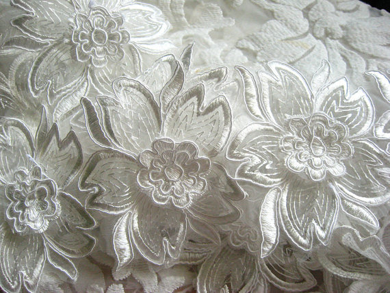 Us 59 1 Yard Ivory Scalloped Lace Border Bridal Lace Trimming Alencon Lace Trim For Bridal Dress Veil Ltcg015b In Lace From Home Garden On