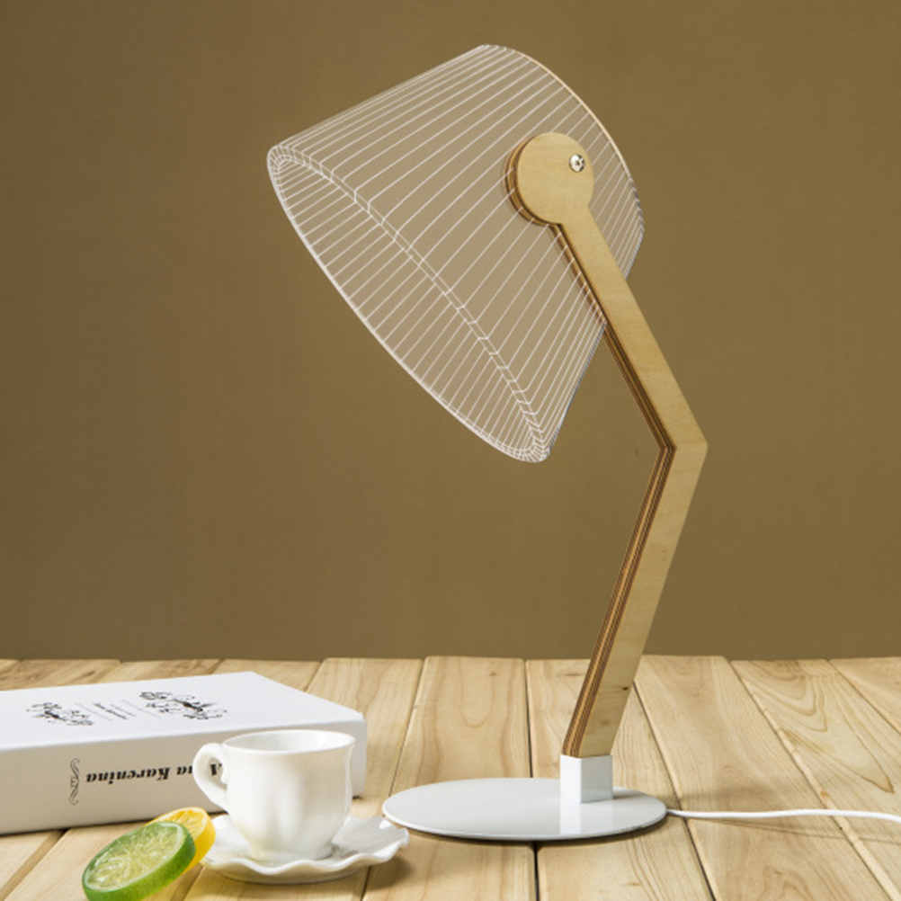 Fashion DIY 3d Table Light For Bedroom Lamp Soft Led Desk Night ... for Diy Acrylic Lamp  299kxo