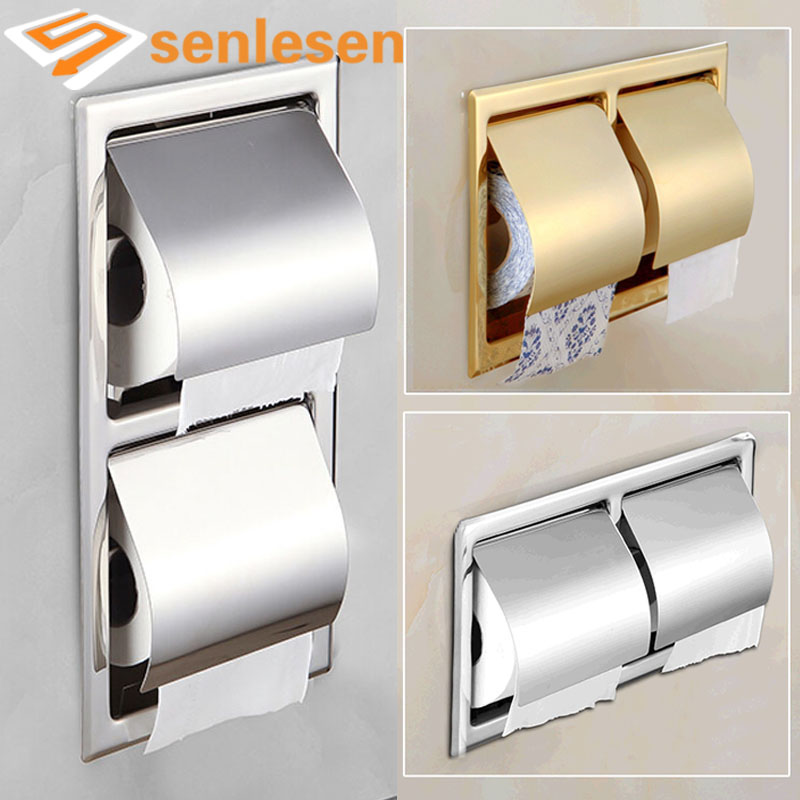 Wholesale and retail roll paper tissue holder brass rack for A bathroom item that starts with g