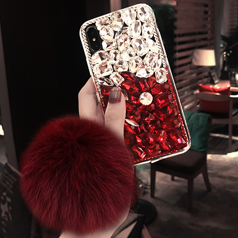 Cellphones & Telecommunications Just Fashion Design Luxury Diy Bling Crystal Diamond Rhinestone With Fur Ball Tassel Case Cover For Samsung C7 C9 Pro C10 J5 J7 Prime Sale Price