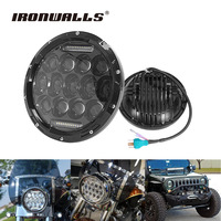 Ironwalls 7 H4 Sealed Beam Motorcycle Headlgiht For Philips Chips 75W Led Driving Light Hi Lo