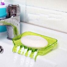 1 шт. пластиковая мыльница для ванной комнаты Аксессуары для туалета слив душа мыльница чистая присоска мыльница для хранения Органайзер инструменты Новинка