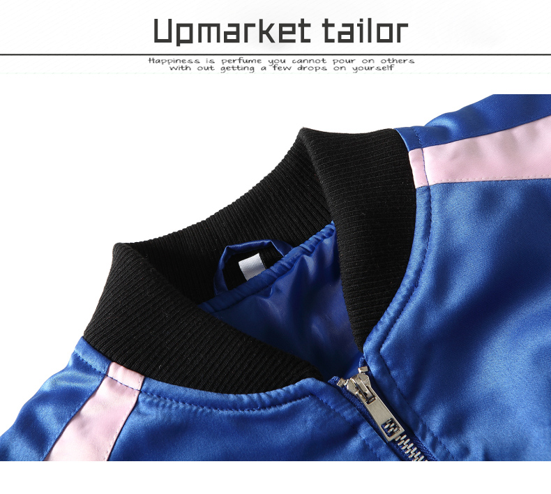 Custom Embroidered Satin Jacket 7
