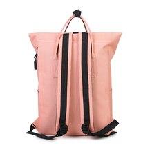 Women Girls Backpack USB Charging Nylon Backpacks School Bags