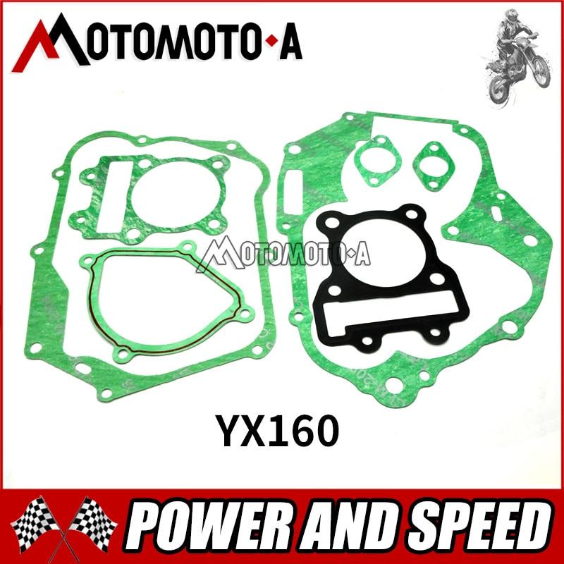 YinXiang YX 150cc / 160cc rebuild gasket for dirt bike/pit bike Engine YX150 YX160 Engine Head-Gasket Set Kit PIT BIKE Parts