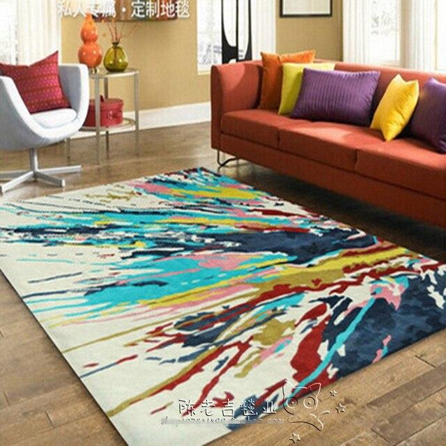 Alfombras Abstractas De Color Alfombra De Bano Alfombra Acrilica - Alfombras-colores