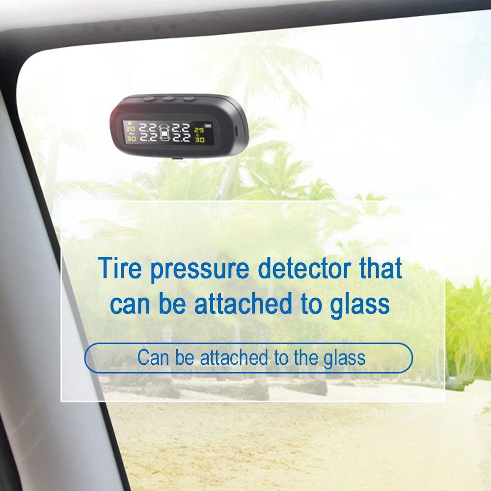 Système de surveillance de la pression des pneus solaire Tmps PC jauge intelligente moniteur capteur ABS noir affichage alarme Automobile - 5