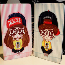 Cute character Variety of girls pattern tablet cover for ipad new 2017 A1822 brand quality leather case with package