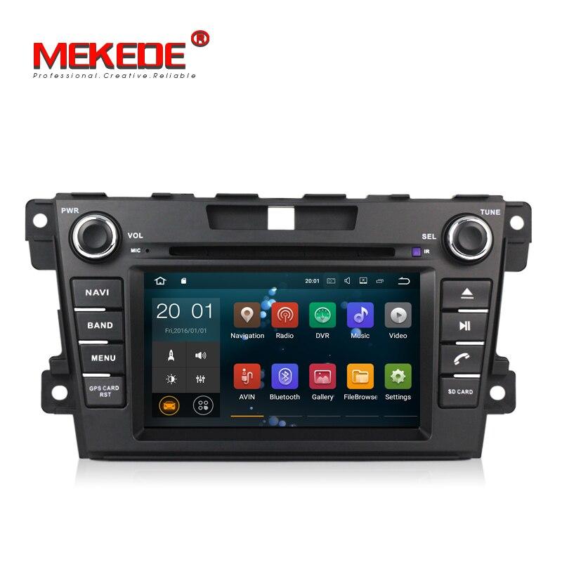 PX3 Android 7.1 2 Din lecteur DVD de voiture au tableau de bord pour Mazda CX7 CX 7 CX-7 2007-2013 avec Navigation GPS RDS FM carte gratuite Canbus SWC