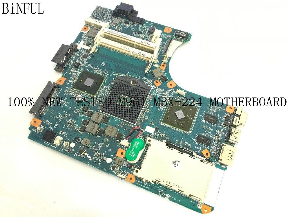 BiNFUL 100% NOVO FRETE GRÁTIS M961 MBX-224 A1794336A (FIT A1794333A) LAPTOP MOTHERBOARD PARA SONY VPCEB SERIES NOTEBOOK PC