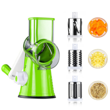 Manual Round Mandoline Slicer Vegetable Cutter Potato Julienne Carrot Slicer Cheese Grater Stainless Steel Blades Kitchen Tool multifunctional mandoline slicer manual drum vegetable shredder potato julienne carrot cheese grater round stainless steel blade