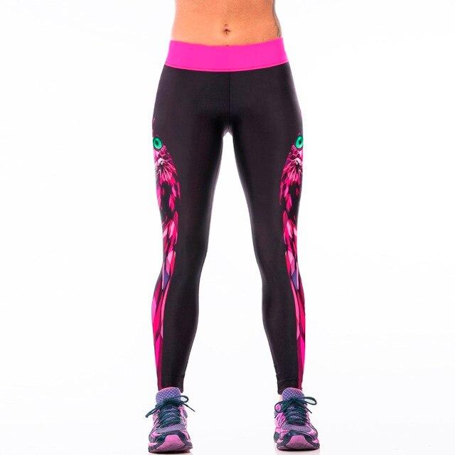 39537a233a1d8 New 007 Sexy Girl Jogging Leggings Comics Rose Owl Witchcraft Prints High  Waist Running Fitness Sport Women Yoga Pants