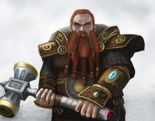 WOW: Series 6: Dwarven King: Magni Bronzebeard Action Figure Model 1