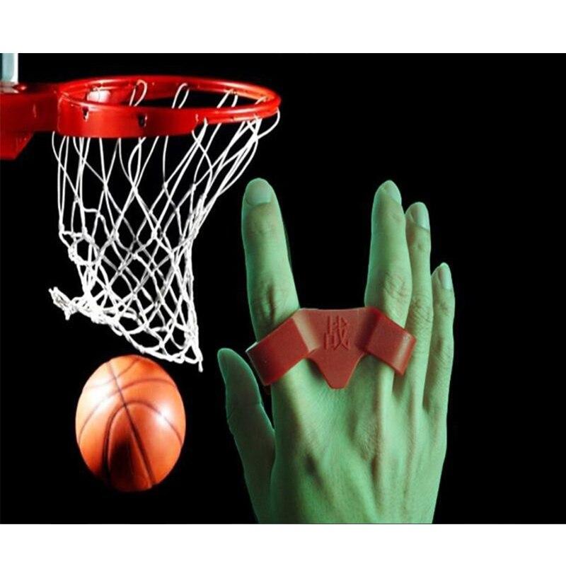1 шт. два пальца Силиконовые выстрел замок Баскетбол Training коррекции осанки устройства мяч Стрельба Тренер Обучение Интимные аксессуары