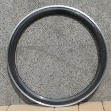 1 пара-700C колеса довод обод 50 мм Труба из углеродистого волокна 3 k UD глянцевый углепластиковый коврик обод для колеса шоссейного велосипеда из алюминиевого сплава тормоз сбоку нашивки ширина: 25 мм, 23 мм 20/24 Отверстия
