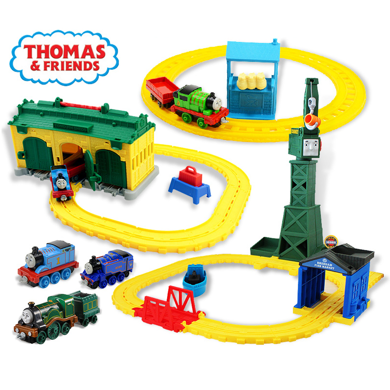 Original Thomas And Friends Train Set Track Car Park Diecast  Cars Train Kids Plastic Metal Boys Toys For Children Juguetes