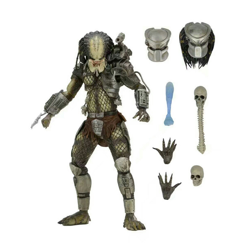 Predators Classic Edition P1 Jungle Hunter Xenomorph Egg Aliens Facehugger Chestburster PVC action Figures Collection Model toy nokia 6700 classic gold edition