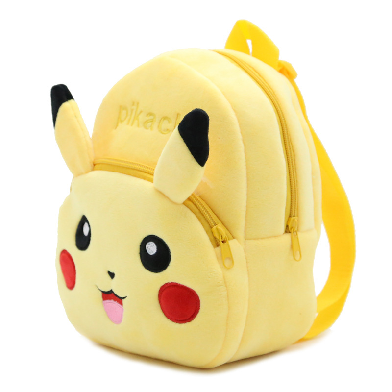 2017 Fashion Anime Pikachu Go Baby Plush Backpacks Kindergarten School Toddler Shoulder Bags Mini 0