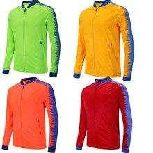 Мужская куртка для бега, дышащая куртка для спорта на открытом воздухе, походов, тренировок, футбола, куртка для тренировок, для спортзала, на молнии, футбольные куртки 6809