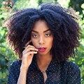 250% Densidade Afro Kinky Curly Peruca Cheia Do Laço Perucas de Cabelo Humano para As Mulheres Negras Brasileira 7A Cabelo Virgem Dianteira Do Laço Do Cabelo Humano perucas