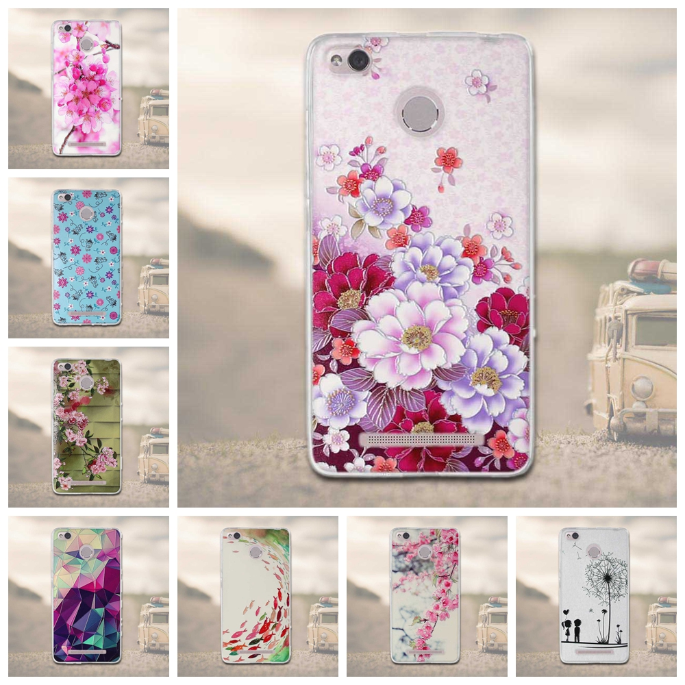 FOR Xiaomi Redmi 3 Pro Case Redmi 3S 3 S Pro Case 3D Relief Soft Silicon Back Cover Case for Xiaomi Redmi 3 Pro / Redmi 3s Bags