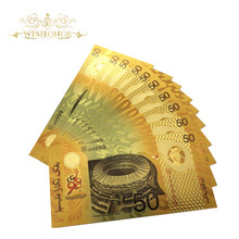 24k-Gold-Foil-Bank Banknote Note-Malaysia Fake Money Gifts Gold-Plated Ringgit 50 New-Design