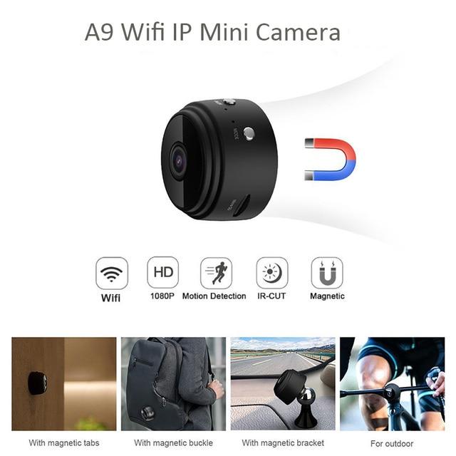 A9 Full HD 1080P Mini Wifi Camera Infrared Night Vision Micro Camera Wireless IP P2P Mini Camera Motion Detection DV DVR Camera