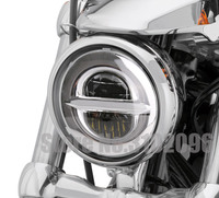 5.75 inch LED Headlight for Dyna Sporter Street Bob FXDB 5 3/4 Headlamp with White DRL For