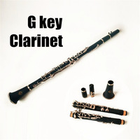 Professional French G Key Clarinet Wood Body Brass Nickel Plated Key With Case