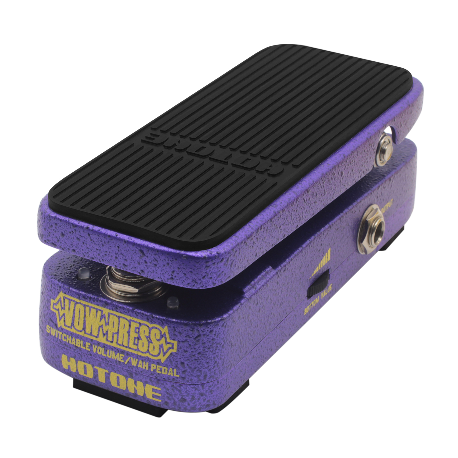 Hotone Vow Press Volume Wah Effect Pedal Based on CryBaby Wah Pedal 3-in-1 Electric Guitar Effects Adjustable Ccontrol Range kw 1 multi function guitar 2 in 1 mini volume wah pedal toy musical instrument