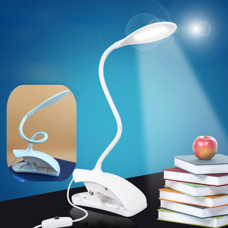 LED Reading Eye Protection Desk Lamp Adjustable Brightness USB Rechargeable LED Desk Table Lamp Light With Clip Touch Switch usb led desk lamp rechargeable table lamp touch switch dimmable table light eye protection for children table light adjustable
