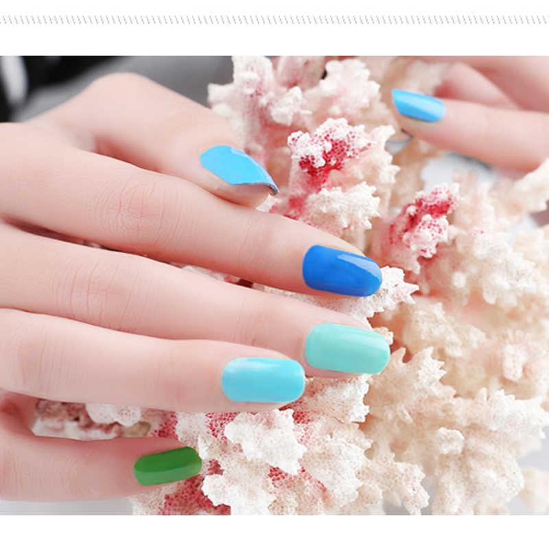 Verntion lampa Uv zestaw Vogue żel polski 7 ml kolorowy żel do paznokci szczęście lakier do paznokci profesjonalny/a Led moczyć UV baza Top żel lakiery
