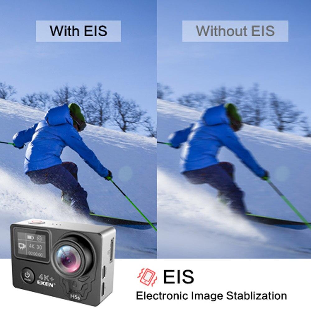 EKEN H5s Plus 4 k + Écran Tactile Caméra Ambarella A12 Chipset 4 k Stabilisation D'image WiFi Sony Capteur Capteur 2.0 pouce Écran Tactile - 4