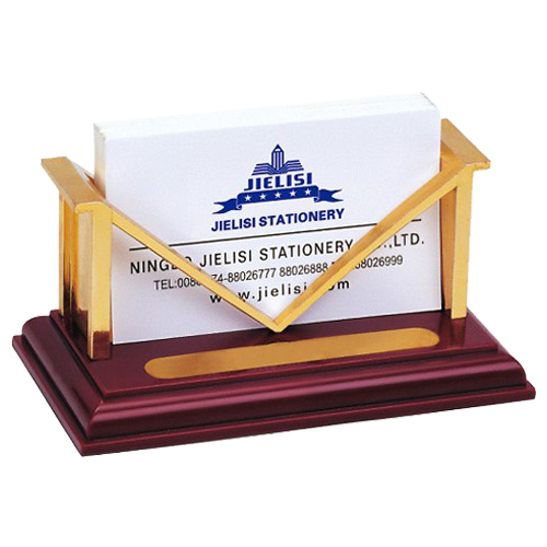 JIELISI 2 pcs 864 Creative M-shaped Copper plating business card holder