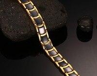 Hot Sales Bracelets for Women Ceramic Medical Men Bracelet With Magnet Healthy Stainless Steel Couple Bracelets Bangles Chain