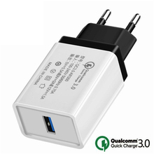 Quick Charge 3.0 2.0 USB EU Plug Charger Travel Wall 5V 3.5A Fast Charge Adapter For Samsung Xiaomi Tablets Mobile Phone Charger