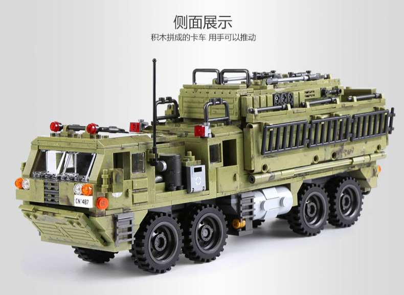1377Pcs XINGBAO Building Blocks Toys легоe military 06014 Cross The Battlefield Series Bricks Truck Model Gift for Children 4PX 24