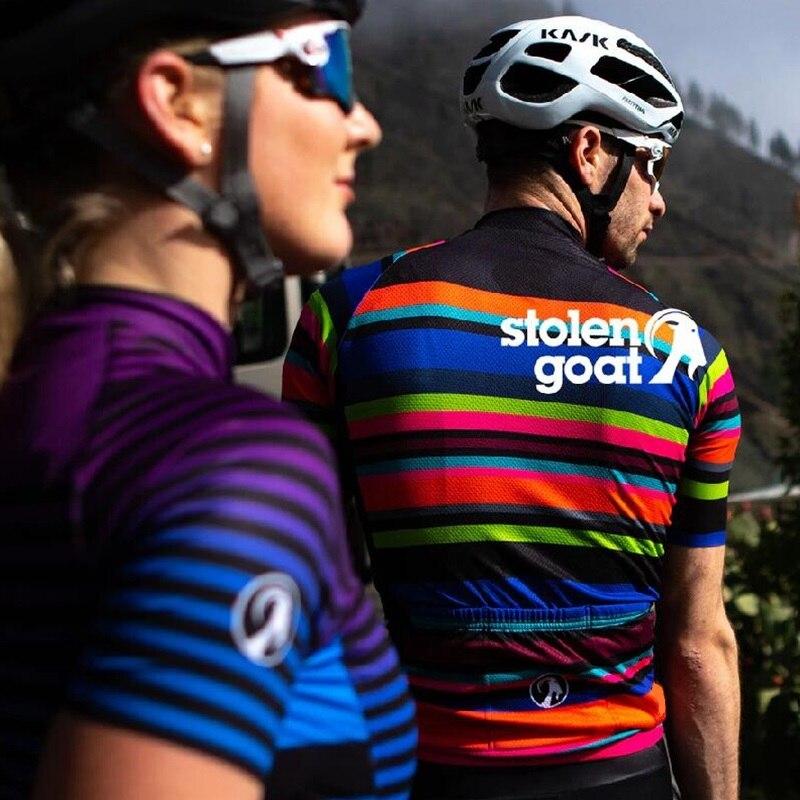 Roubado de cabra 2019 mais recente Verão ciclismo jerseys homens de bicicleta MTB ridewear maglia stripecycle ciclista de manga Curta Cor da camisa