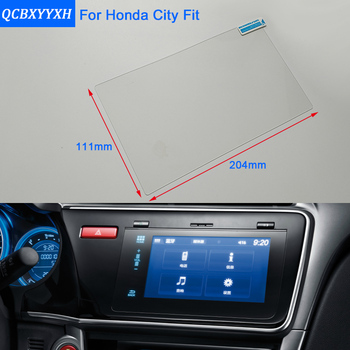 QCBXYYXH For Honda City Jazz Fit Car Styling GPS Navigation Screen Glass Protective Film Dashboard Display Protective Film image