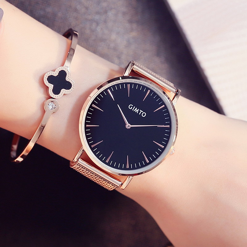 Gimto brand luxury women watches 2017 ladies girl wristwatch fashion casual quartz watch relogio for Celebrity watches female 2017
