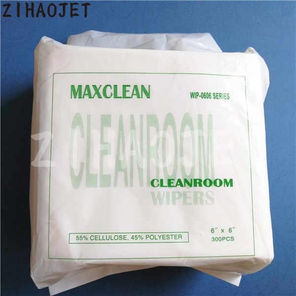 55% Selulosa & 45% Poliester Cleanroom Wiper 6X6 ''untuk Seiko 510 1020 Epson DX5 DX7 Konica 512 kepala Maxclean Perlengkapan 300 Pcs