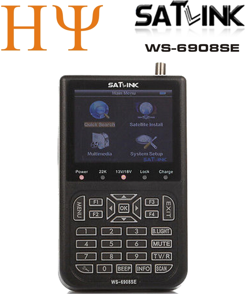 Оригинал Satlink WS 6908SE DVB S FTA цифровой спутниковый сигнал Finder метр, WS6908SE, с подсветкой и один фонарик