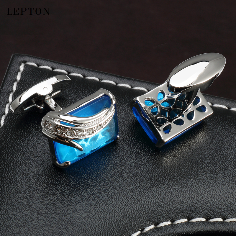 Μικρά μπλέ μανικετόκουμπα - Κοσμήματα μόδας - Φωτογραφία 5