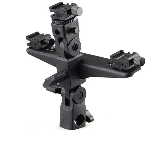 DSLRKIT Dual / Triple Flash Bracket Umbrella Holder Light Stand shoe 1/4 Screw